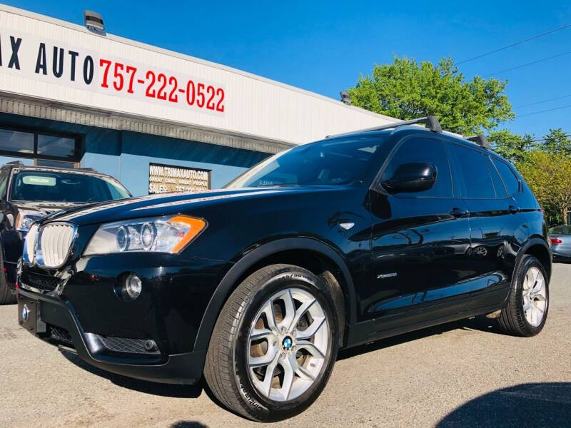 2013 BMW X3 for sale at Trimax Auto Group in Norfolk VA