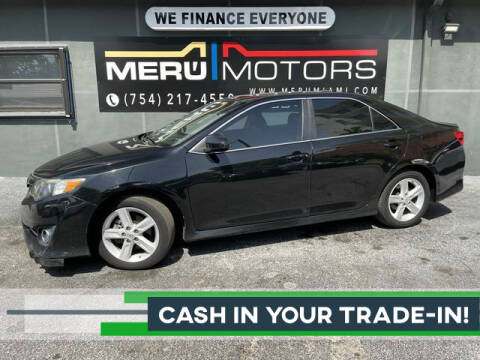 2013 Toyota Camry for sale at Meru Motors in Hollywood FL