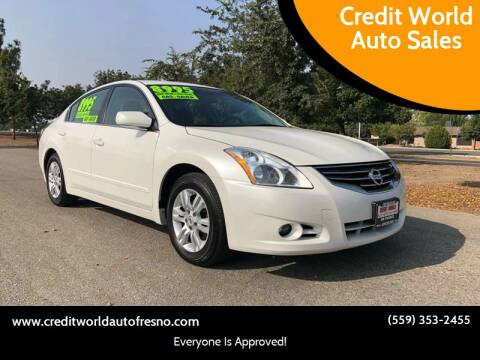 2011 Nissan Altima for sale at Credit World Auto Sales in Fresno CA