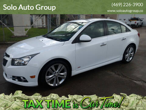 2014 Chevrolet Cruze for sale at Solo Auto Group in Mckinney TX