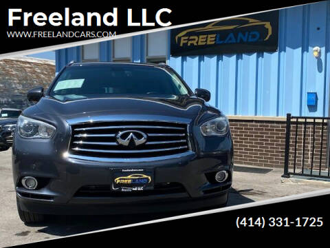 2013 Infiniti JX35 for sale at Freeland LLC in Waukesha WI