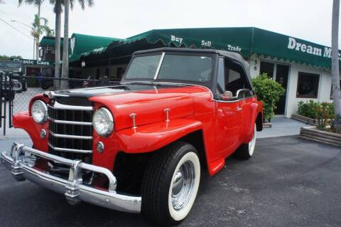 1951 Willys Jeepster for sale at Dream Machines USA in Lantana FL