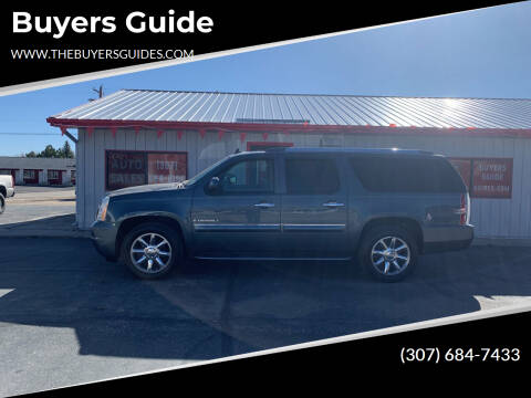 2008 GMC Yukon XL for sale at Buyers Guide in Buffalo WY
