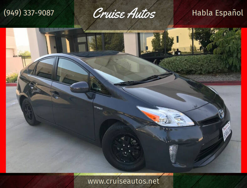 2015 Toyota Prius for sale at Cruise Autos in Corona CA