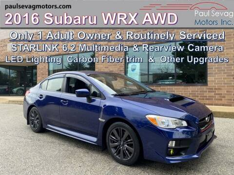 2016 Subaru WRX for sale at Paul Sevag Motors Inc in West Chester PA