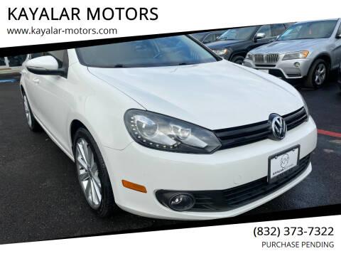 2013 Volkswagen Golf for sale at KAYALAR MOTORS in Houston TX