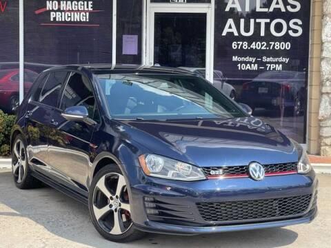 2016 Volkswagen Golf GTI for sale at ATLAS AUTOS in Marietta GA