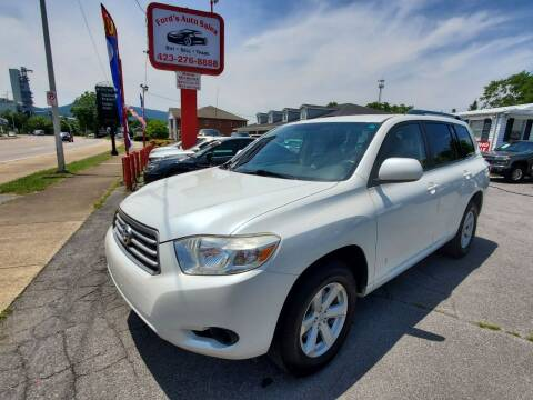 2010 Toyota Highlander for sale at Ford's Auto Sales in Kingsport TN