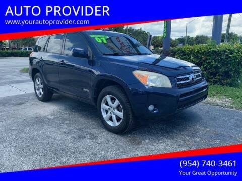2007 Toyota RAV4 for sale at AUTO PROVIDER in Fort Lauderdale FL