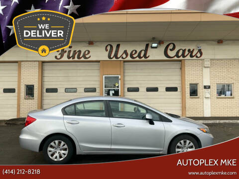 2012 Honda Civic for sale at Autoplexwest in Milwaukee WI