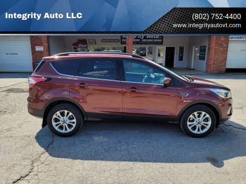 2018 Ford Escape for sale at Integrity Auto 2.0 in Saint Albans VT
