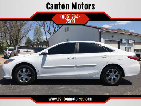 2016 Toyota Camry for sale at Canton Motors in Canton SD