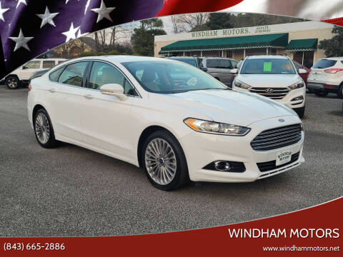 2016 Ford Fusion for sale at Windham Motors in Florence SC