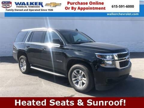 2017 Chevrolet Tahoe for sale at WALKER CHEVROLET in Franklin TN