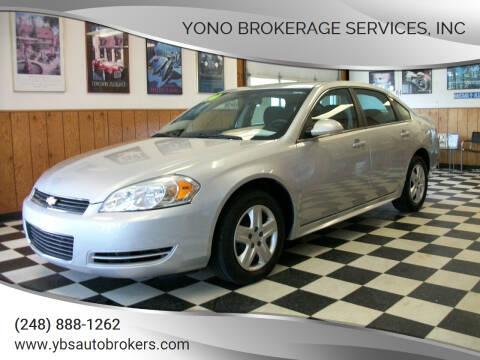2010 Chevrolet Impala for sale at Yono Brokerage Services, INC in Farmington MI