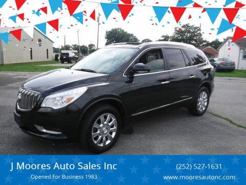 2013 Buick Enclave for sale at J Moores Auto Sales Inc in Kinston NC