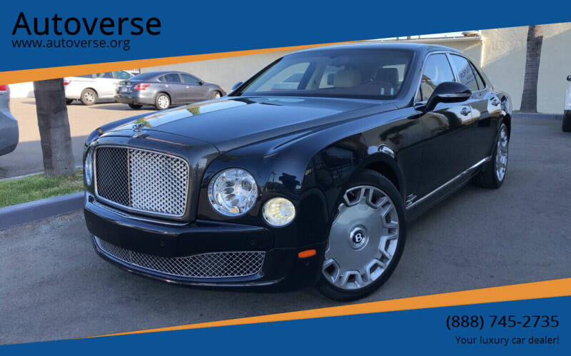 2012 Bentley Mulsanne for sale at Autoverse in La Habra CA