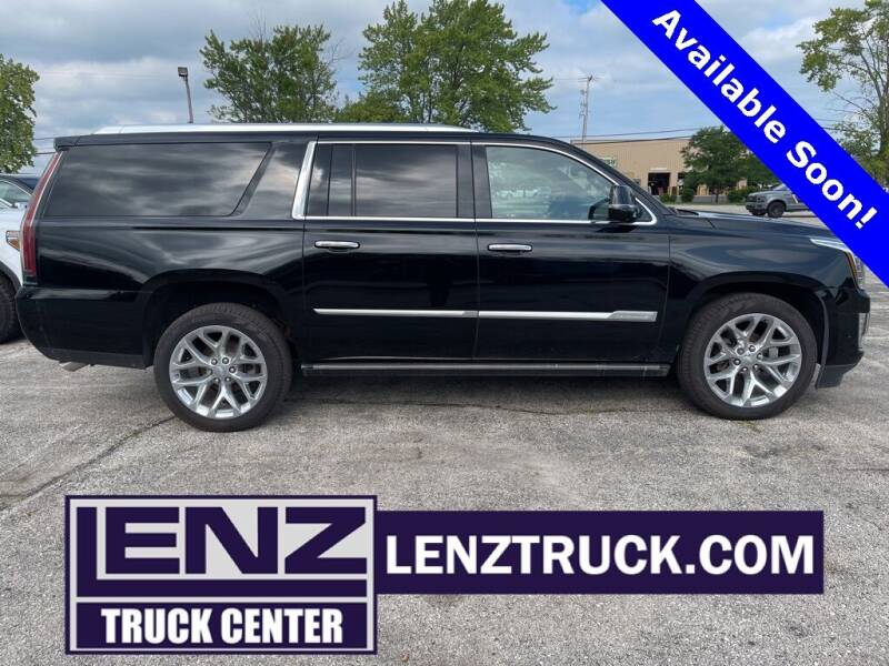 2018 Cadillac Escalade ESV for sale at LENZ TRUCK CENTER in Fond Du Lac WI