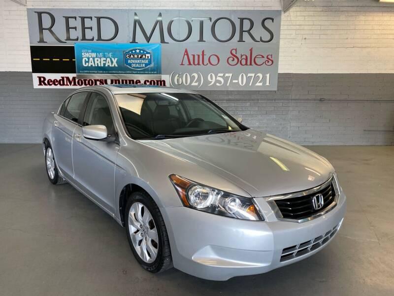 2009 Honda Accord for sale at REED MOTORS LLC in Phoenix AZ