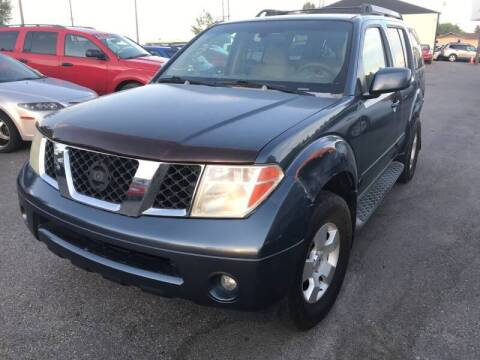 2007 Nissan Pathfinder for sale at BELOW BOOK AUTO SALES in Idaho Falls ID