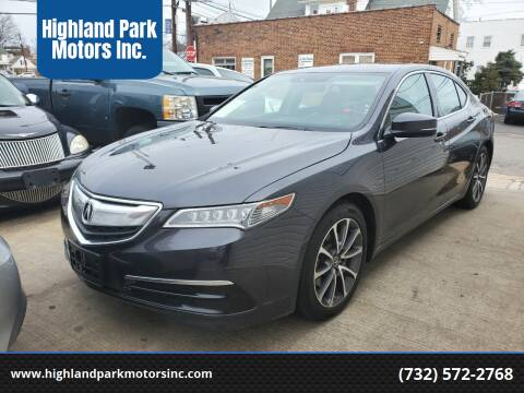 2015 Acura TLX for sale at Highland Park Motors Inc. in Highland Park NJ