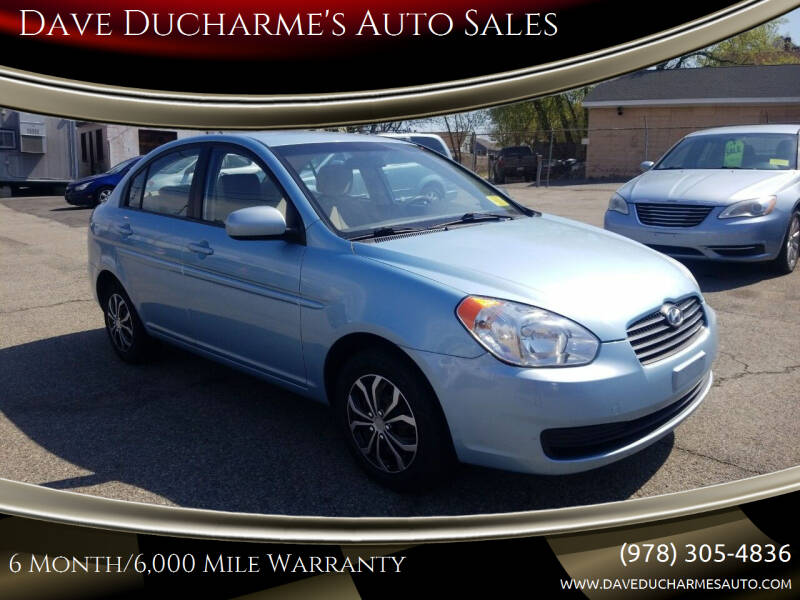 2011 Hyundai Accent for sale at Dave Ducharme's Auto Sales in Lowell MA
