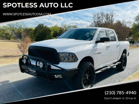 2010 Dodge Ram Pickup 1500 for sale at SPOTLESS AUTO LLC in San Antonio TX
