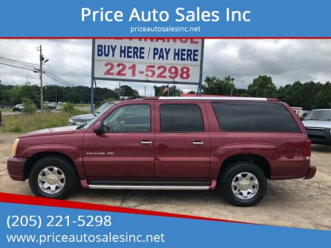 2004 Cadillac Escalade ESV for sale at Price Auto Sales Inc in Jasper AL