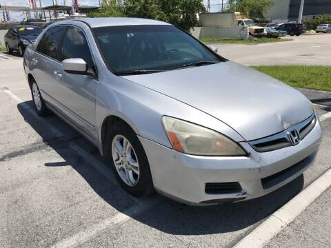 2007 Honda Accord for sale at MIAMI AUTO LIQUIDATORS in Miami FL