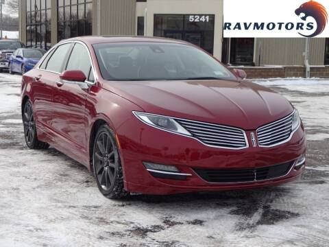 2016 Lincoln MKZ for sale at RAVMOTORS 2 in Crystal MN