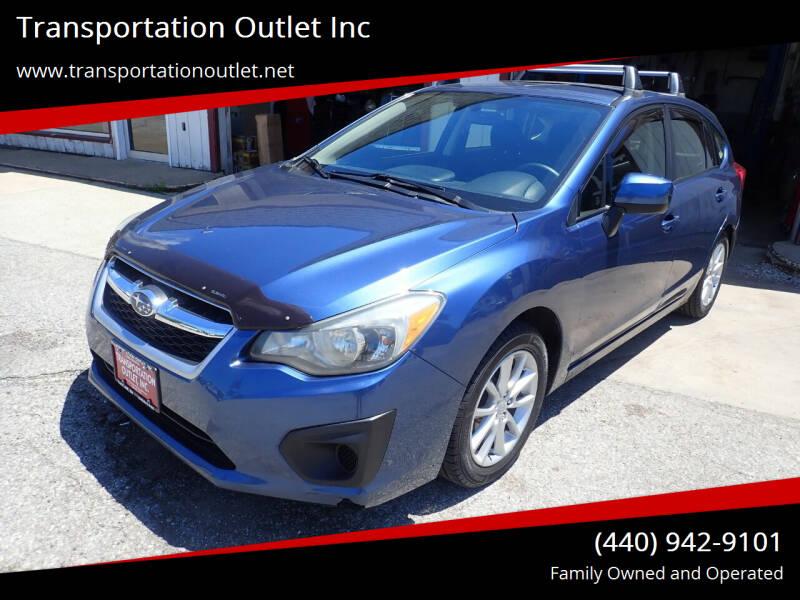 2012 Subaru Impreza for sale at Transportation Outlet Inc in Eastlake OH