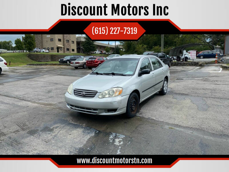 2003 Toyota Corolla for sale at Discount Motors Inc in Nashville TN