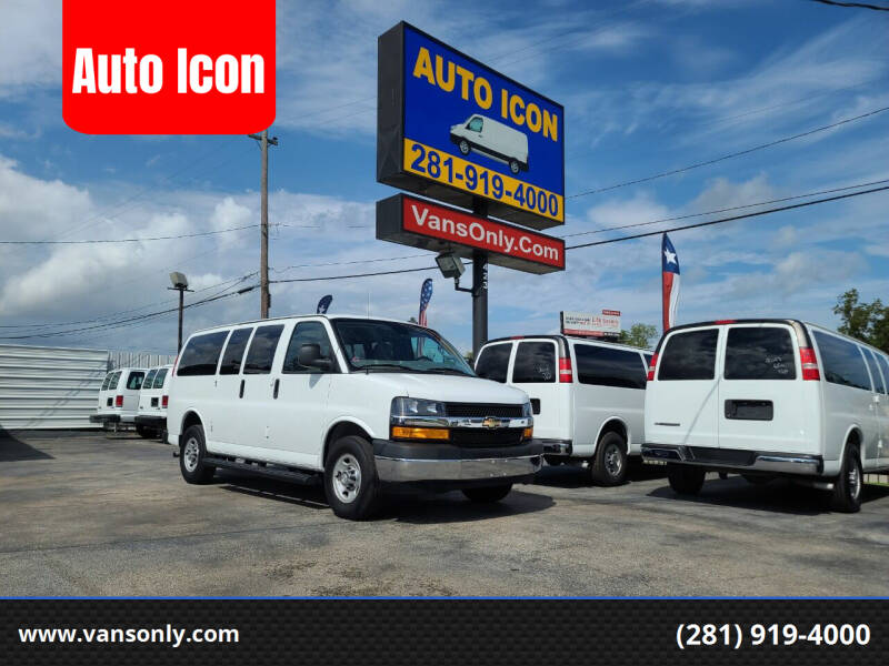 2019 Chevrolet Express Passenger for sale at Auto Icon in Houston TX