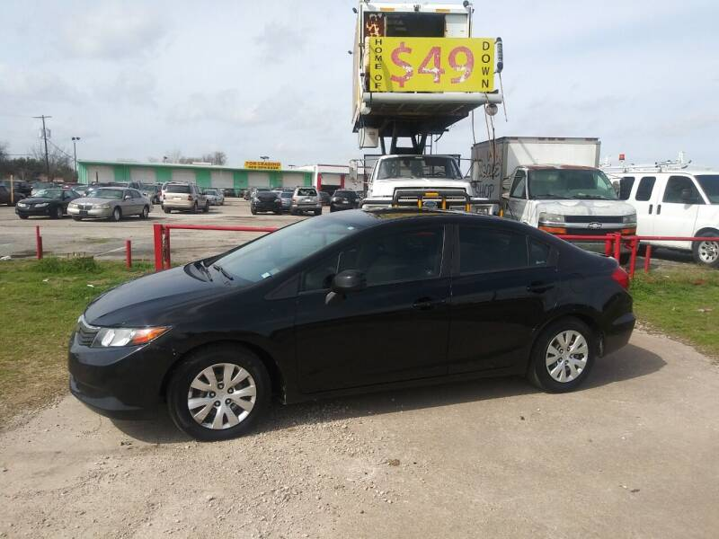 2012 Honda Civic for sale at USA Auto Sales in Dallas TX