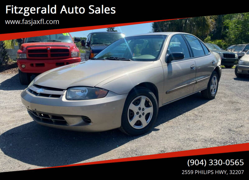 2004 Chevrolet Cavalier for sale at Fitzgerald Auto Sales in Jacksonville FL