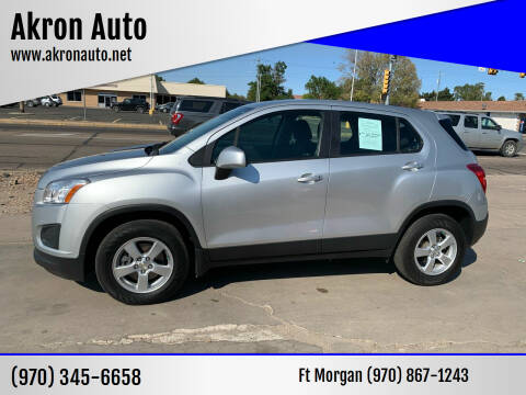 2016 Chevrolet Trax for sale at Akron Auto in Akron CO
