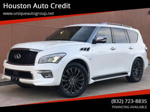 2015 Infiniti QX80 for sale at Houston Auto Credit in Houston TX