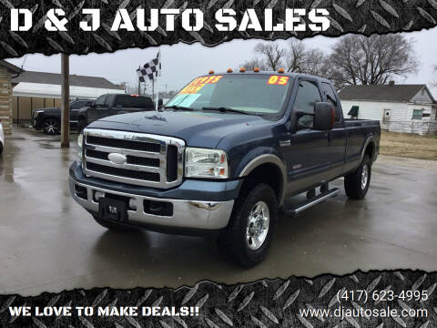 2005 Ford F-250 Super Duty for sale at D & J AUTO SALES in Joplin MO