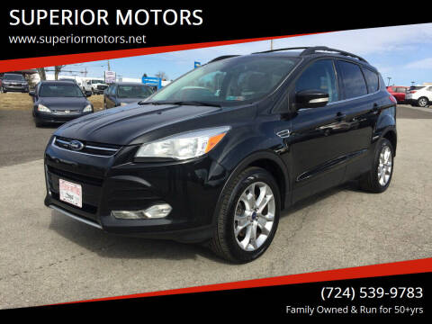 2013 Ford Escape for sale at SUPERIOR MOTORS in Latrobe PA