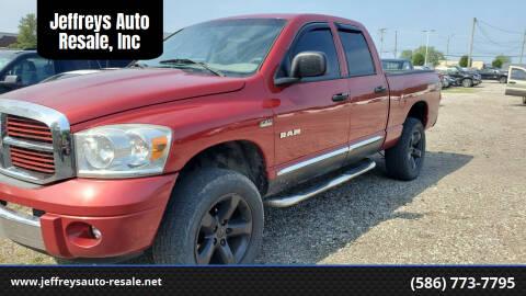 2008 Dodge Ram Pickup 1500 for sale at Jeffreys Auto Resale, Inc in Clinton Township MI