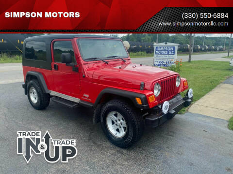2006 Jeep Wrangler for sale at SIMPSON MOTORS in Youngstown OH