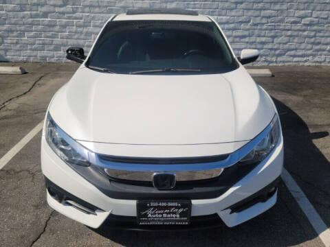 2018 Honda Civic for sale at ADVANTAGE AUTO SALES INC in Bell CA