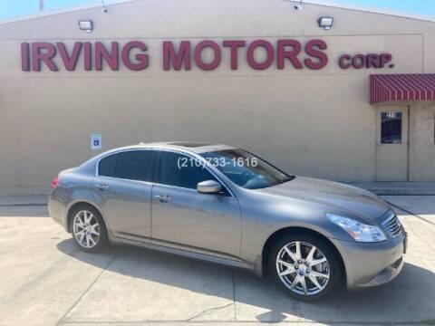 2009 Infiniti G37 Sedan for sale at Irving Motors Corp in San Antonio TX