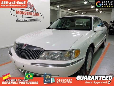 2002 Lincoln Continental for sale at Monster Cars in Pompano Beach FL