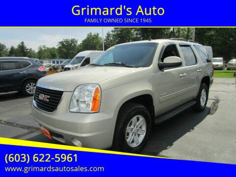 2014 GMC Yukon for sale at Grimard's Auto in Hooksett NH