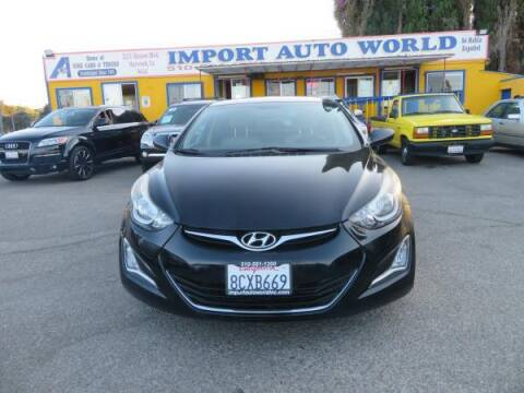 2015 Hyundai Elantra for sale at Import Auto World in Hayward CA
