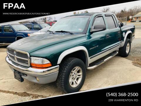 2001 Dodge Dakota for sale at FPAA in Fredericksburg VA