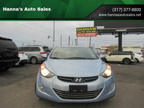 2013 Hyundai Elantra for sale at Hanna's Auto Sales in Indianapolis IN