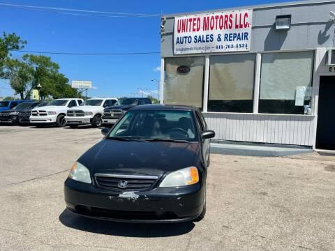2002 Honda Civic for sale at United Motors LLC in Saint Francis WI