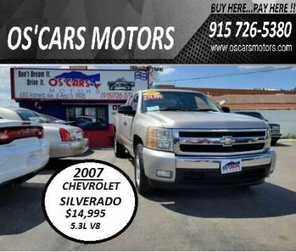 2007 Chevrolet Silverado 1500 for sale at Os'Cars Motors in El Paso TX